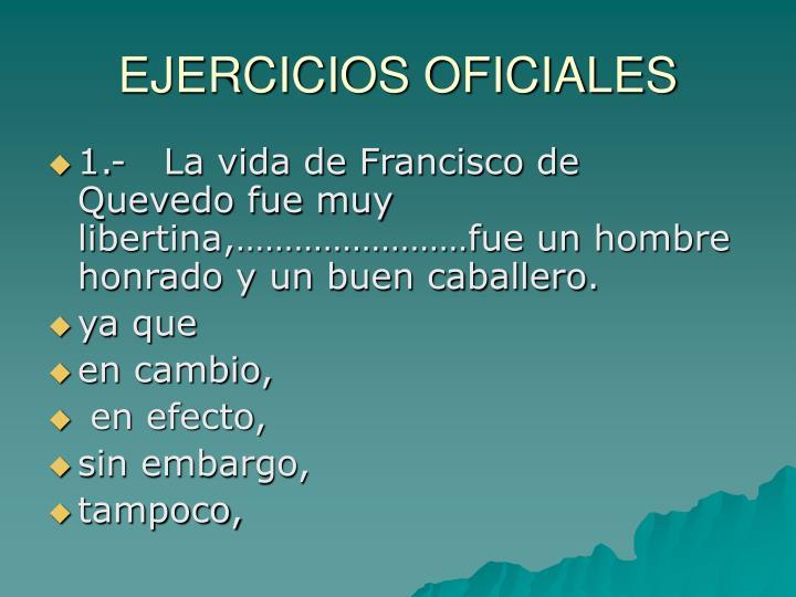 EJERCICIOS OFICIALES