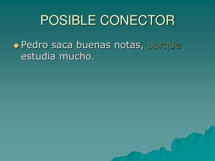 POSIBLE CONECTOR