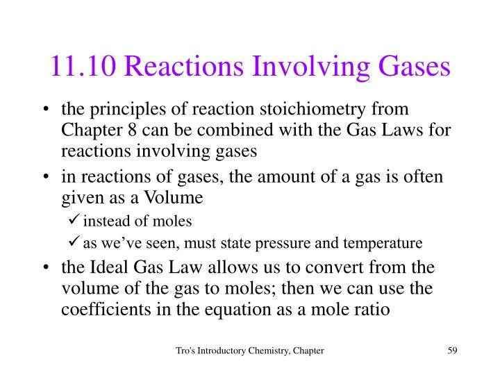11.10 Reactions Involving Gases