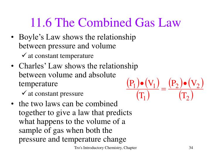11.6 The Combined Gas Law