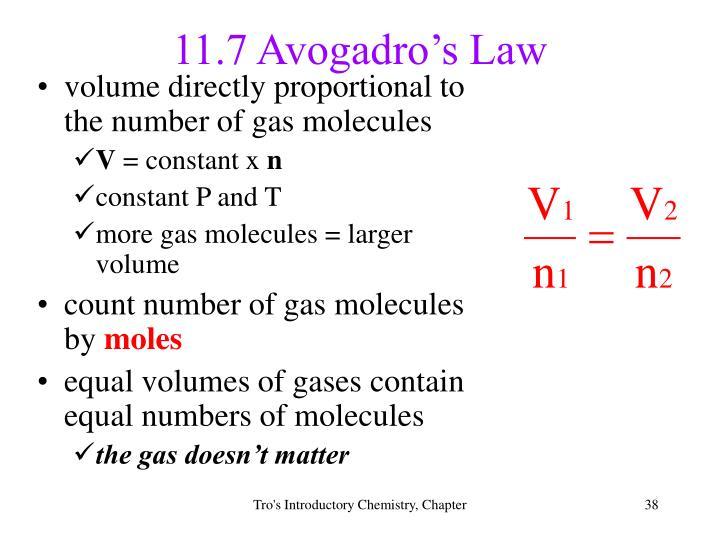11.7 Avogadro's Law