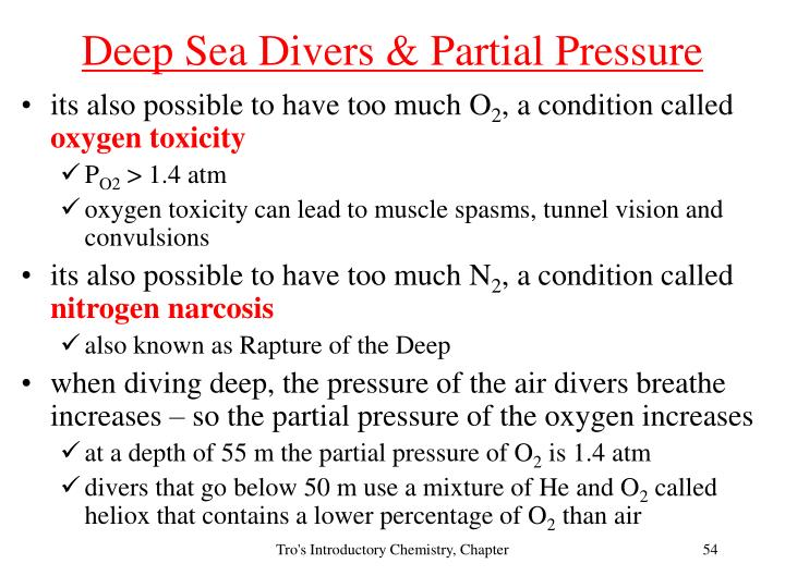 Deep Sea Divers & Partial Pressure