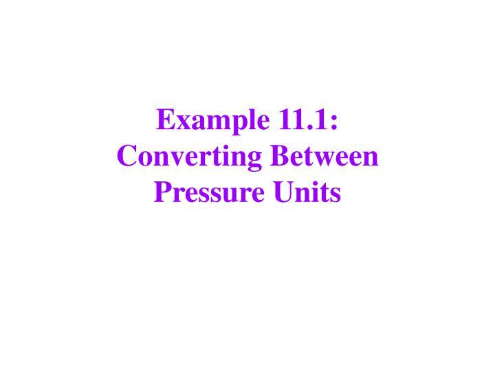 Example 11.1: