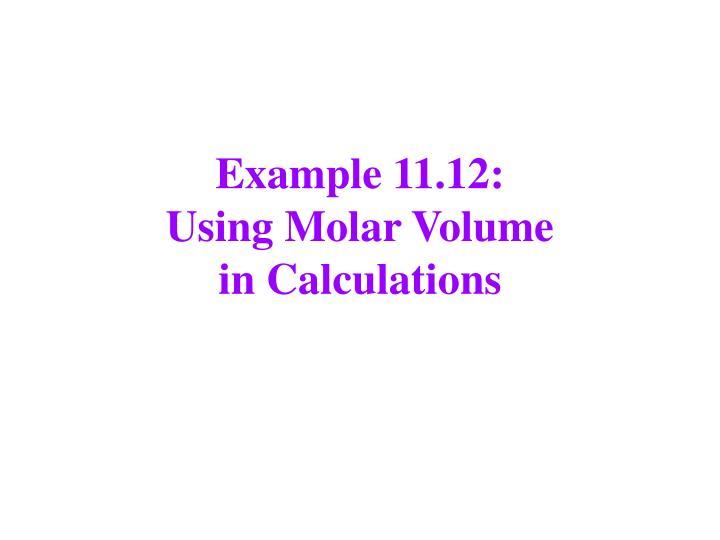 Example 11.12: