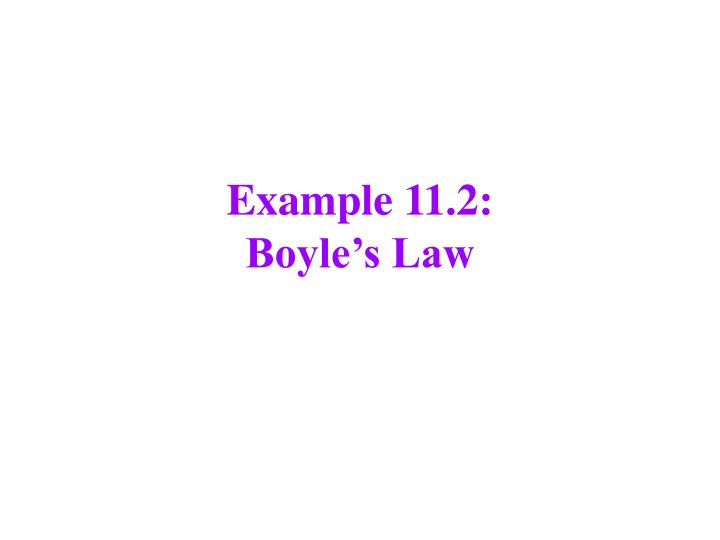 Example 11.2: