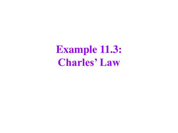 Example 11.3: