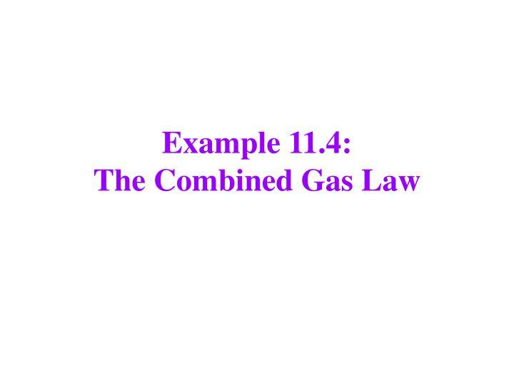 Example 11.4:
