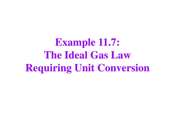 Example 11.7: