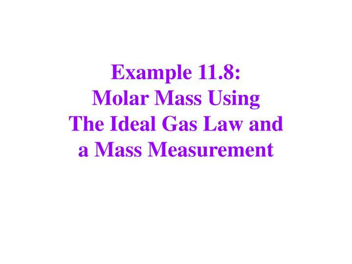 Example 11.8: