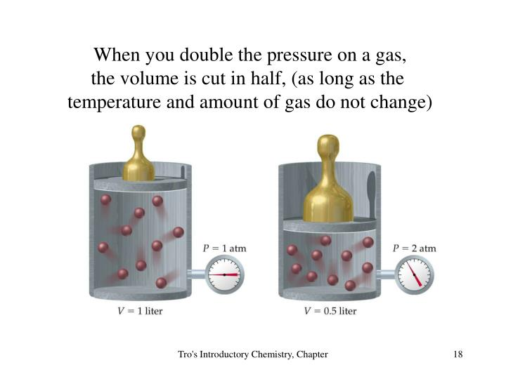 When you double the pressure on a gas,