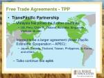 free trade agreements tpp