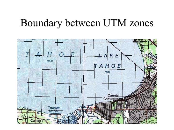 Boundary between UTM zones