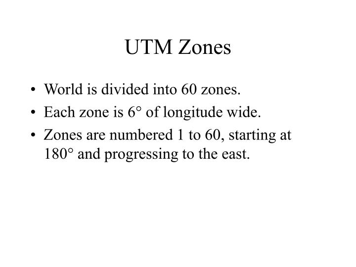 UTM Zones