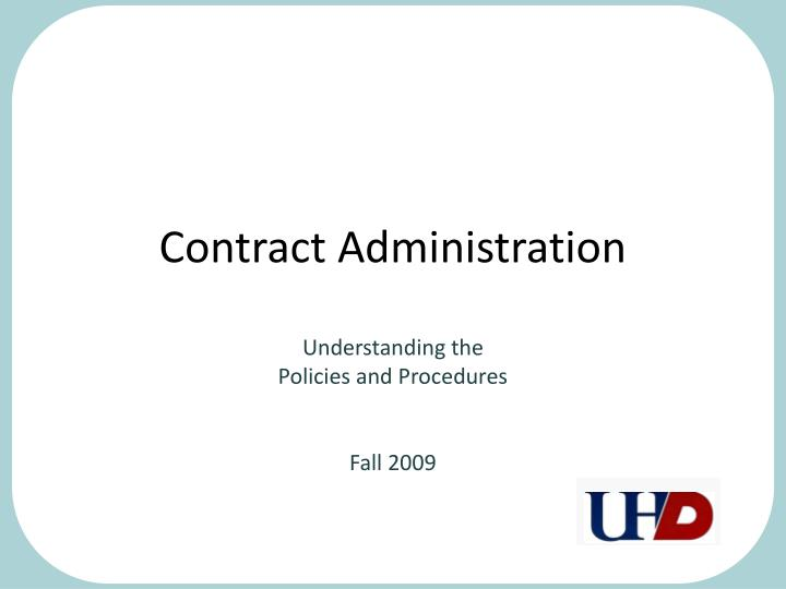 Contract Administration