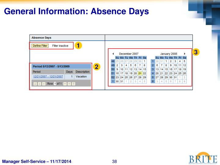 General Information: Absence Days