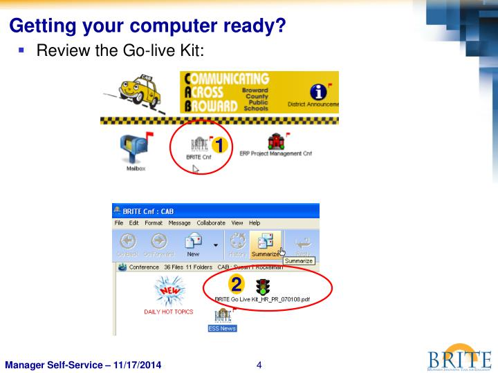 Getting your computer ready?
