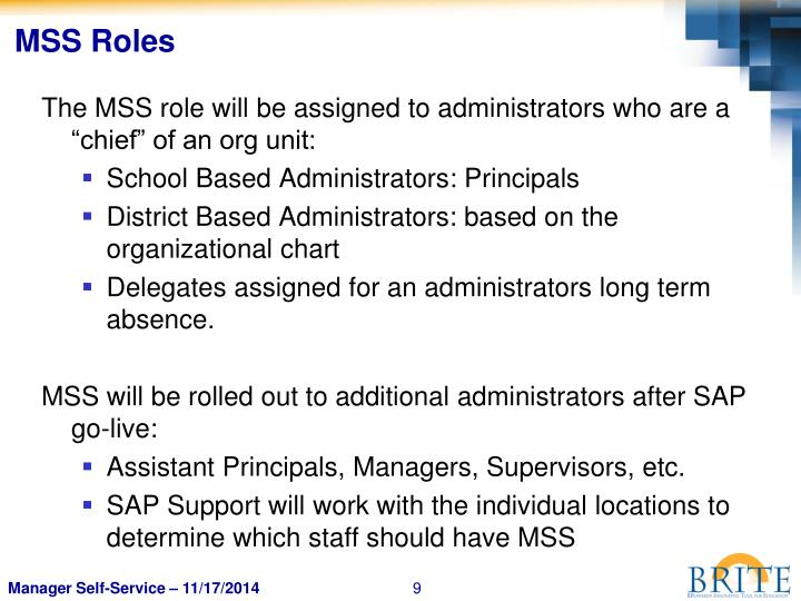 MSS Roles