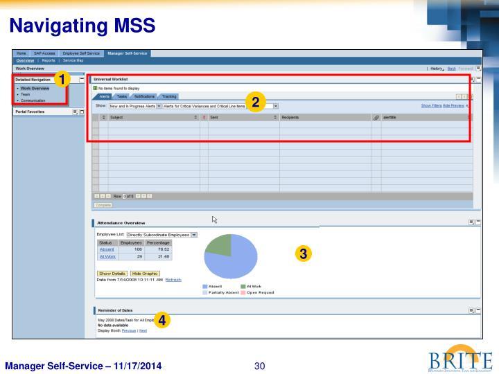 Navigating MSS