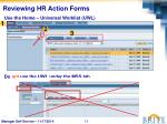reviewing hr action forms