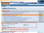 reviewing hr forms tasks