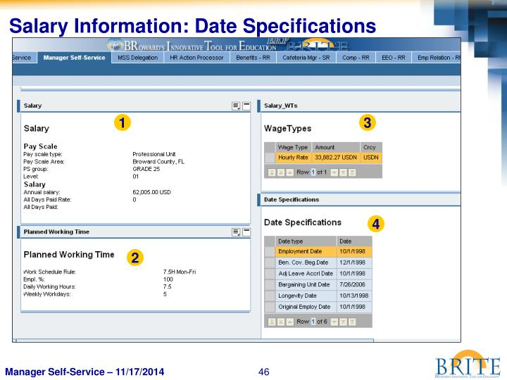 Salary Information: Date Specifications