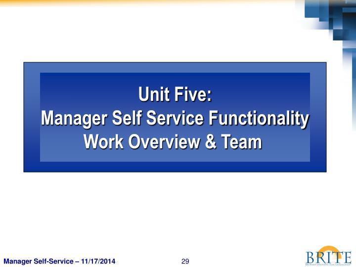 Unit Five: