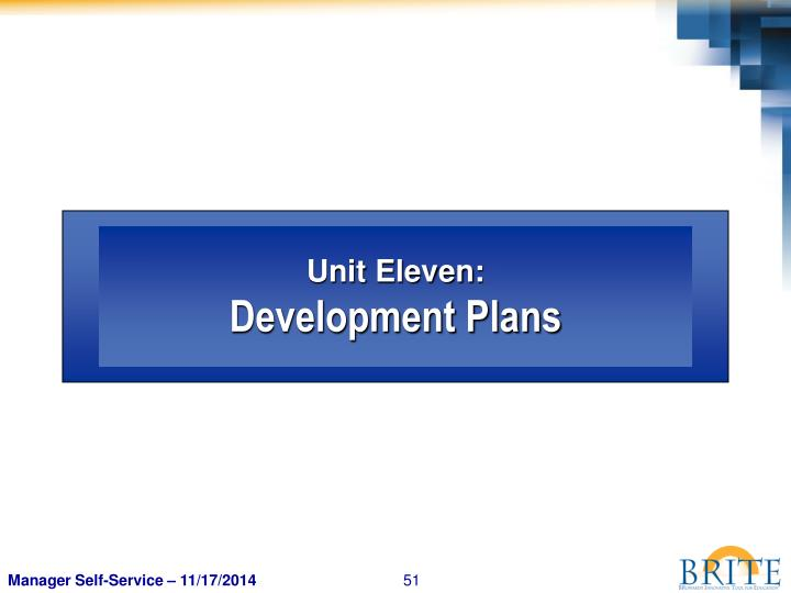 Unit Eleven: