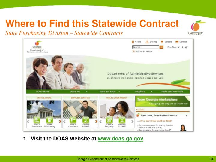 Where to Find this Statewide Contract