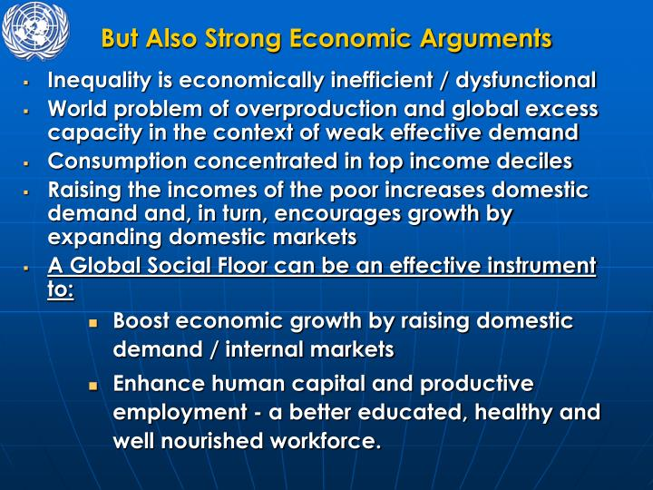 But Also Strong Economic Arguments