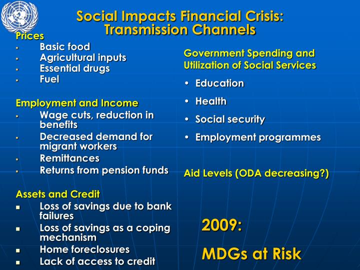 Social Impacts Financial Crisis:
