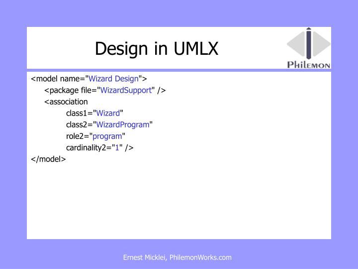 Design in UMLX