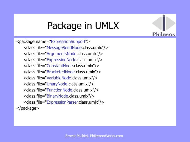 Package in UMLX
