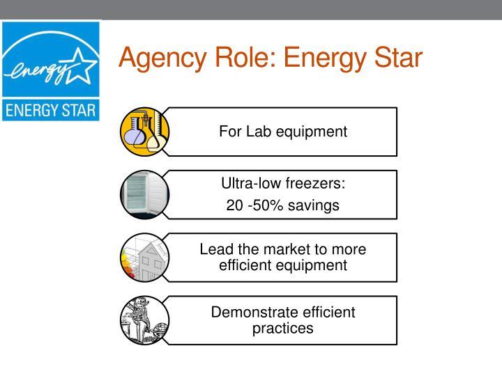 Agency Role: Energy Star