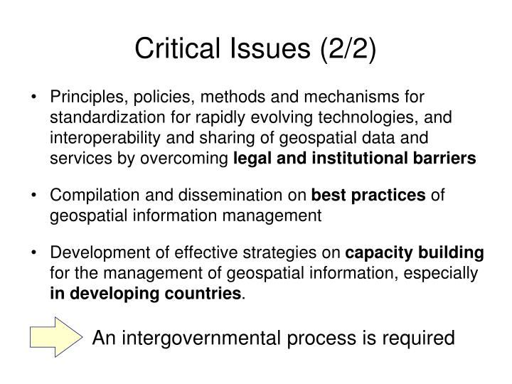 An intergovernmental process is required
