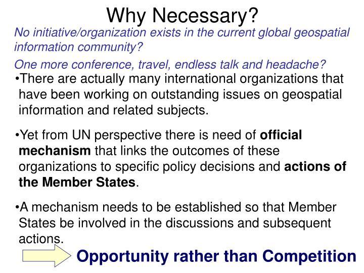 Why Necessary?