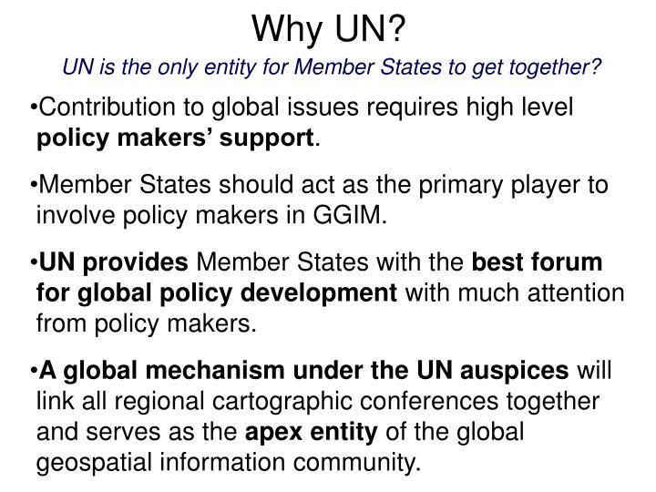 Why UN?