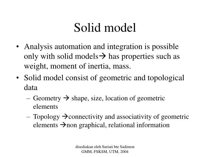 Solid model