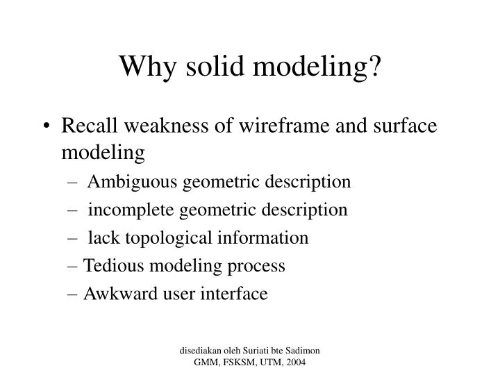 Why solid modeling