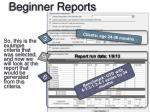 beginner reports1