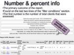 number percent info