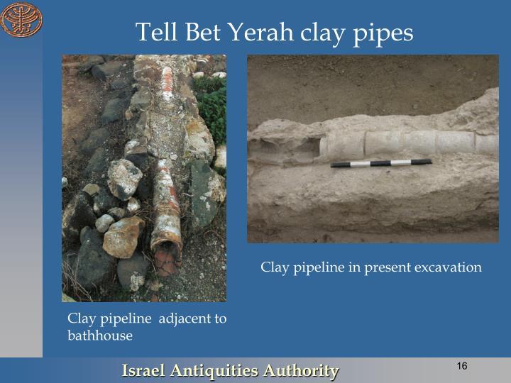 Tell Bet Yerah clay pipes