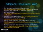 additional resources web