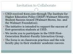 invitation to collaborate