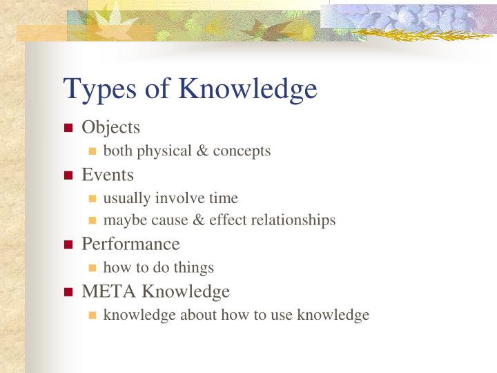 Types of Knowledge