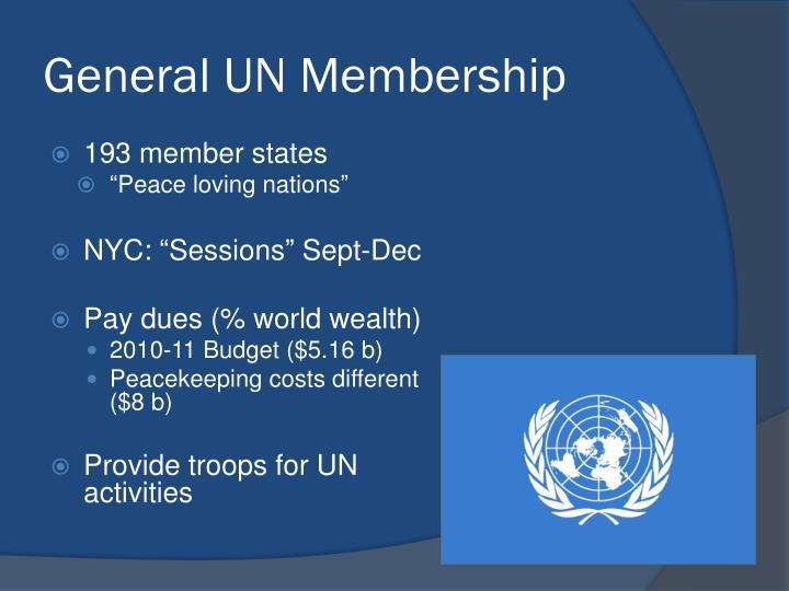 General UN Membership