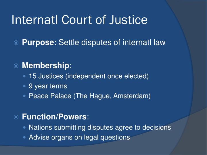 Internatl Court of Justice