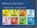 millenium dvpt goals
