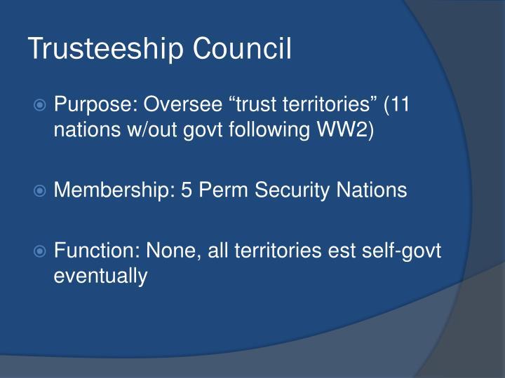 Trusteeship Council