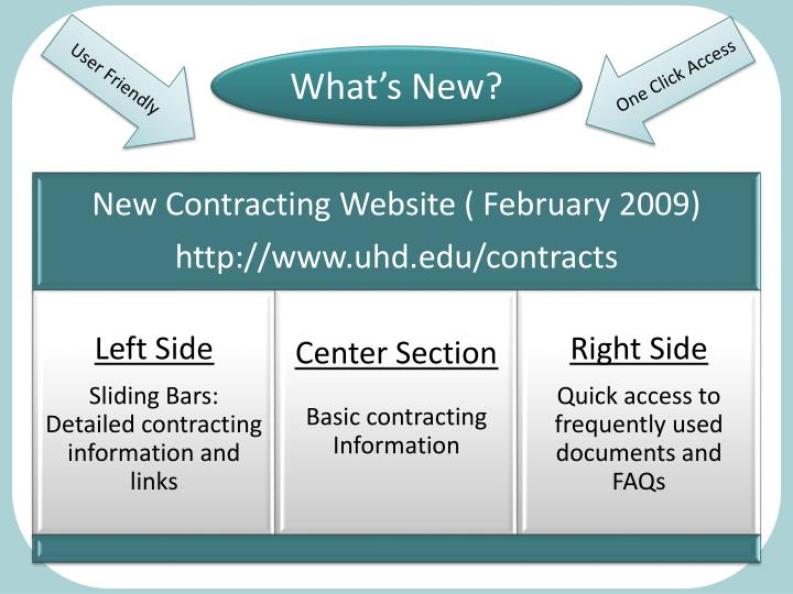 New Contracting Website ( February 2009)