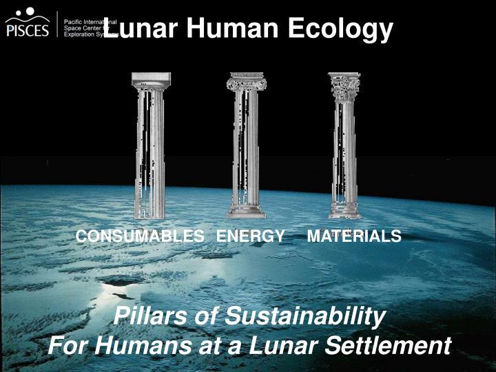 Lunar Human Ecology